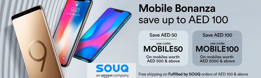 Souq Coupon Code for Mobile Flat AED 100 DIscount  Just visit