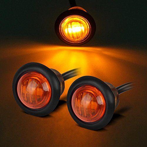 Partsam Pair 3/4″ Mini Marker Clearance Light Turn Signal Light 1 ...