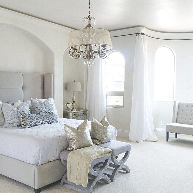 Fan Photo of the Week: bright + airy bedroom bliss via @natalyakuynilak. Styled with our exclusive Nina Bed and Borghese Mirrored Side Chest. 15% off through Monday!
