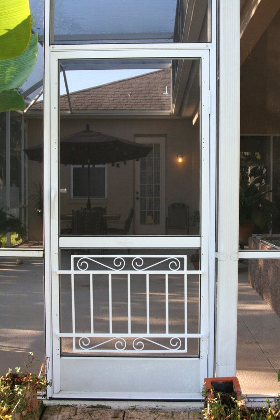 Screen Door Grille Cottage Collection Decorative Protective Mini Garden Gate Style Aluminum Custom Sizes Available In 2020 Screen Door Grilles Screen Door Aluminum Screen Doors
