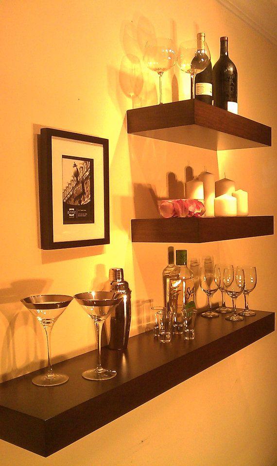 Holidays Decor Sale Wall Mounted Wine Rack Free Shipping Wine Bottle Holder Floating Shelf Decorative Wall Shelves Hausbar Wohnung Einrichten Wohnen