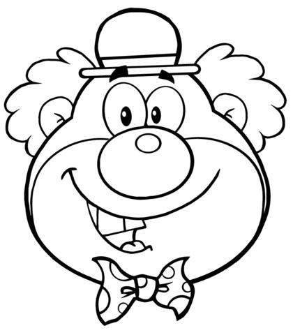 Roligt Clownhuvud Malarbok Gratis Malarbilder Att Skriva Ut Ausmalbilder Clown Gesichter Ausmalen