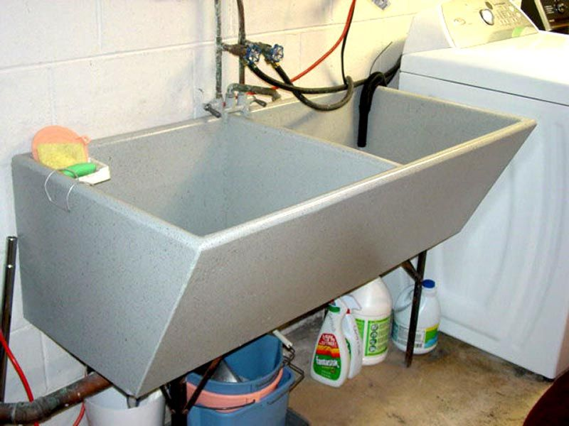 Concrete Sink Refinishing Laundry Room Sink Repair With Images