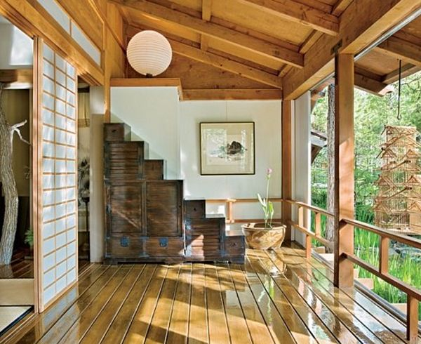 traditional japanese house decorations with stunning forest traditional japanese house design with stunning forest - Japanese Home Design