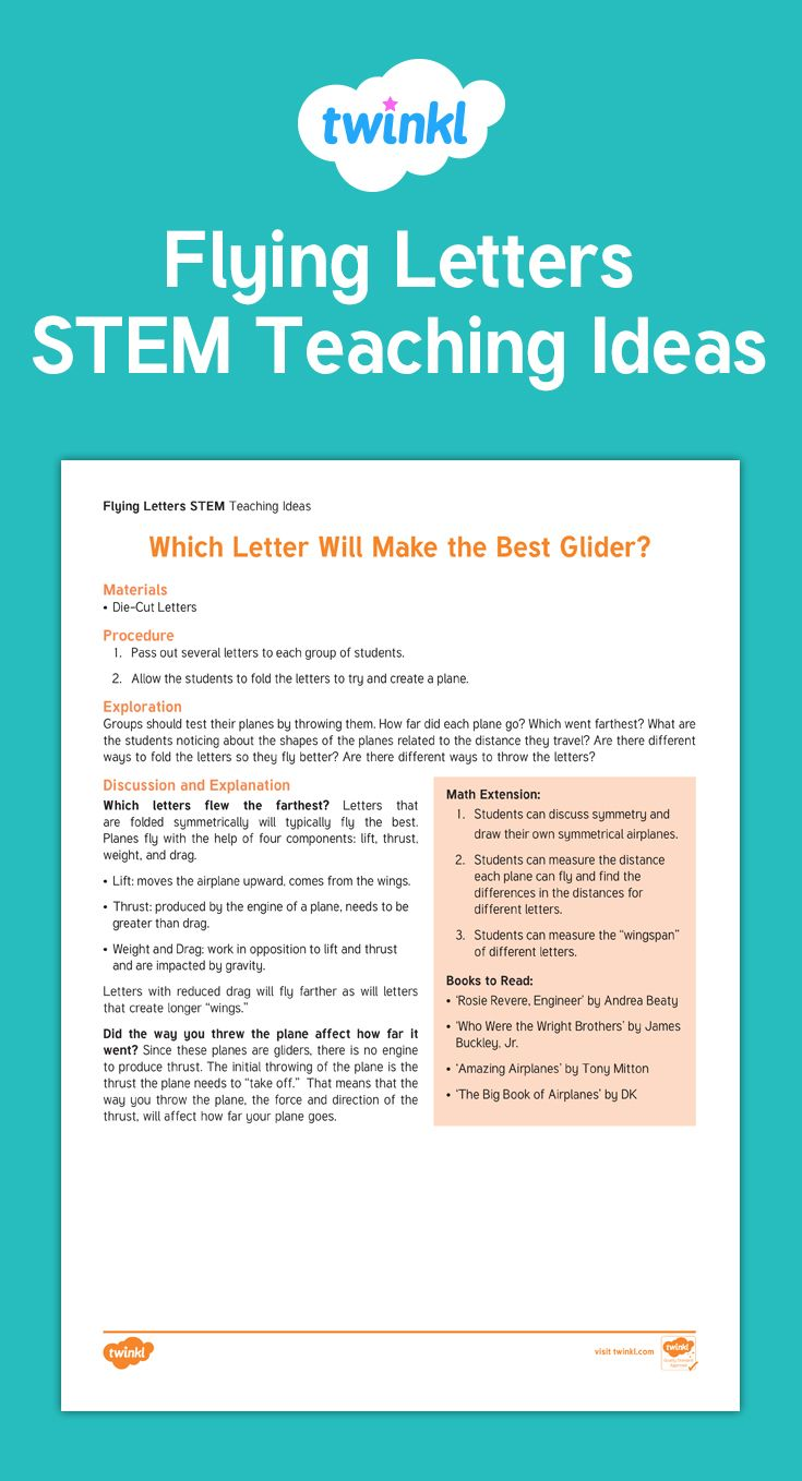 Flying Letters STEM Activity - This easy-to-do STEM activity is a ...
