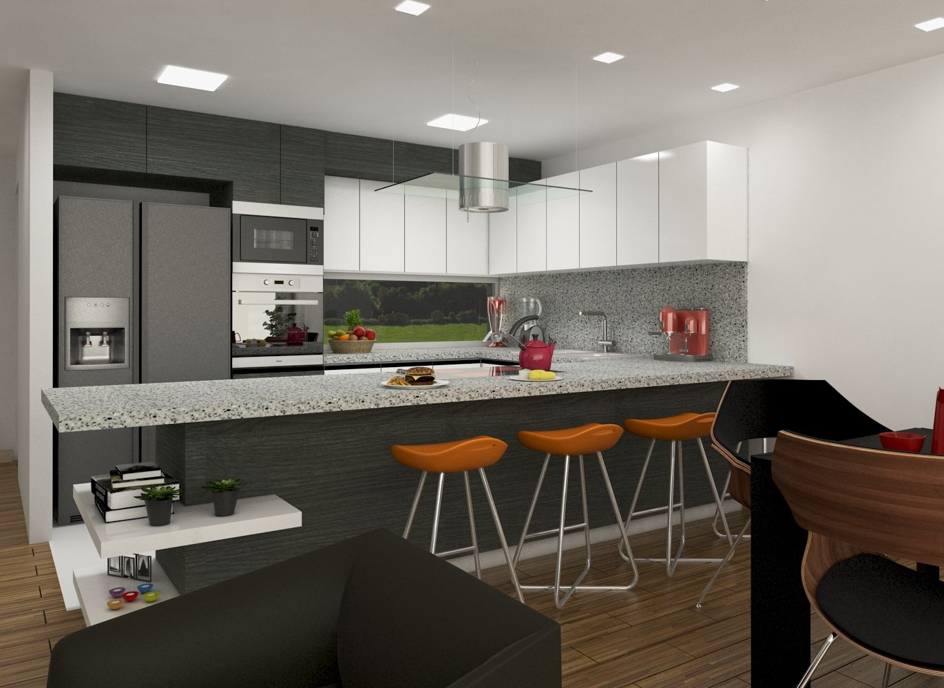 Diseño interior moderno contemporaneo cocina   Diseño Interior ...