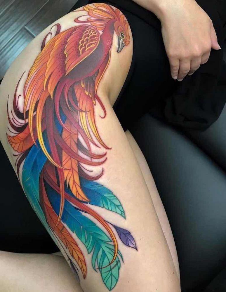 ea39a0598 feniks tatuaż na biodro dla kobiety Phoenix Back Tattoo, Phoenix Bird  Tattoos, Phoenix Tattoo
