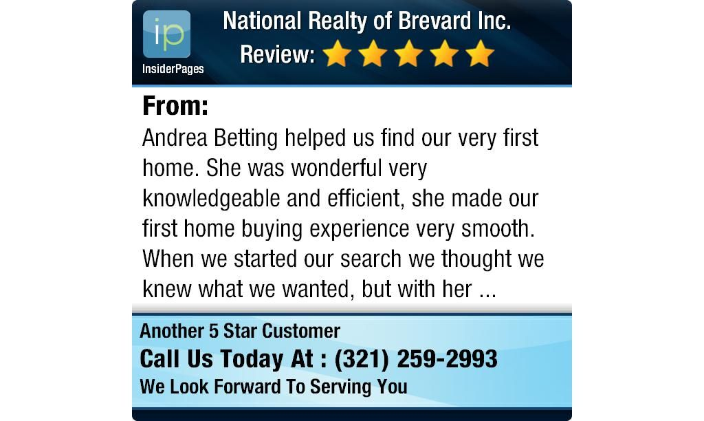 Andrea Betting helped us find our very first home. She was wonderful very knowledgeable...