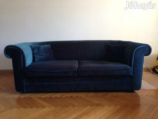 KÉK Bársony IKEA 3 személyes kanapé - XI. kerület 81216e9d08