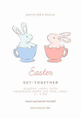Get Together Easter Invitation Template Free In 2019
