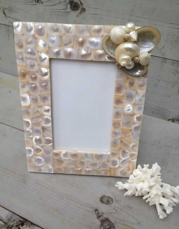 Capiz Seashell Picture Frame by MyHoneypickles | Crafts | Pinterest ...
