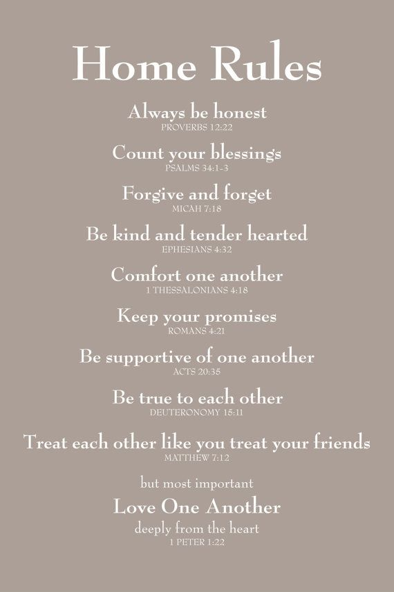 This is going up on a wall in the Petty house...good rules for everyone, not just the little ones.