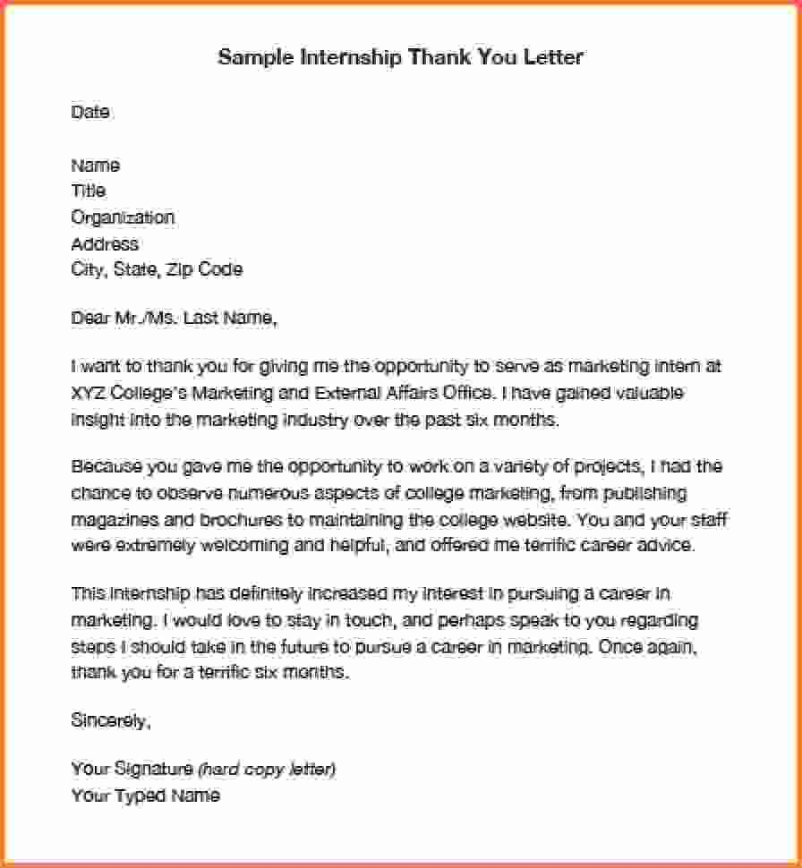 How End Thank You Lettermple Internship Letterg Donor Stewardship