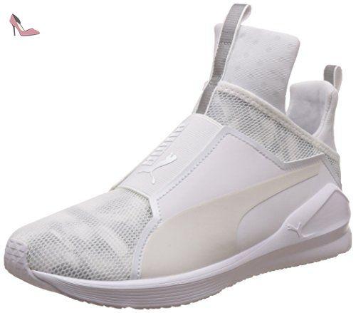 Puma Fierce Lace Wn's, Chaussures de Fitness Femme, Blanc blanc noir 03, 38 EU