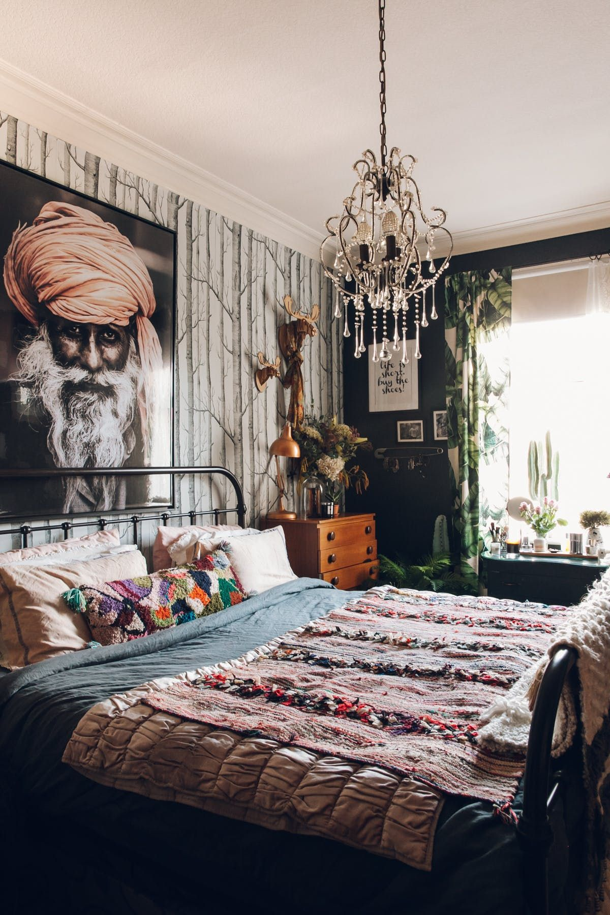 A Dark Moody Vintage Filled Victorian In The Uk Bohemian Style Decor Bedroom Eclectic Master Bedroom Master Bedrooms Decor