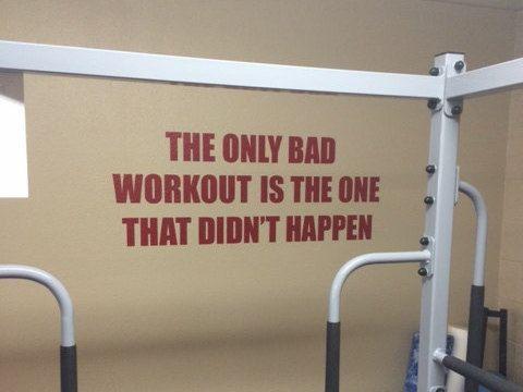 motivational gym quote  gym design