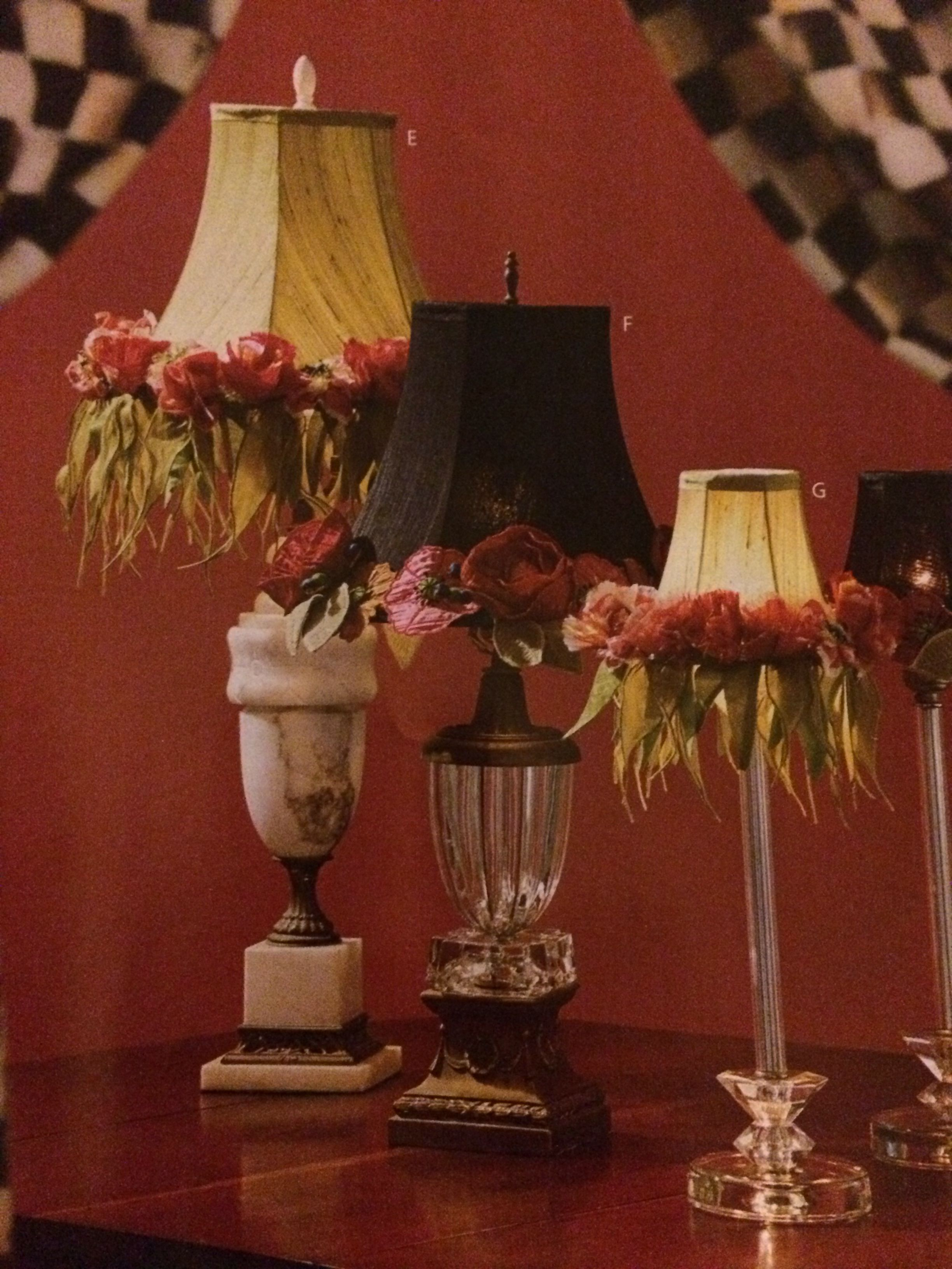 Embellished lap shades - love the look, not sure if they for my current decor