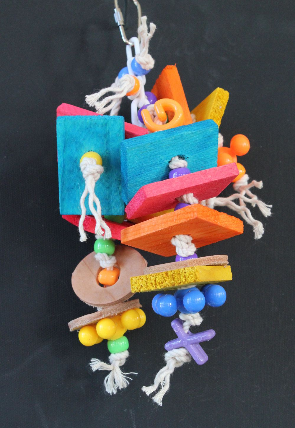 Bird Toy - 12-ch1103 CRAZY TWIN STACKER by ChopmistHillBirdToys on Etsy