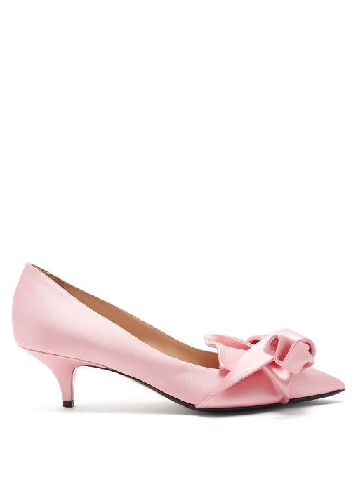 Deals Online Cheap Sale Shop Offer No. 21 Point-toe bow satin pumps Cheap Sale Discount Clearance Limited Edition xkkWDdQxD