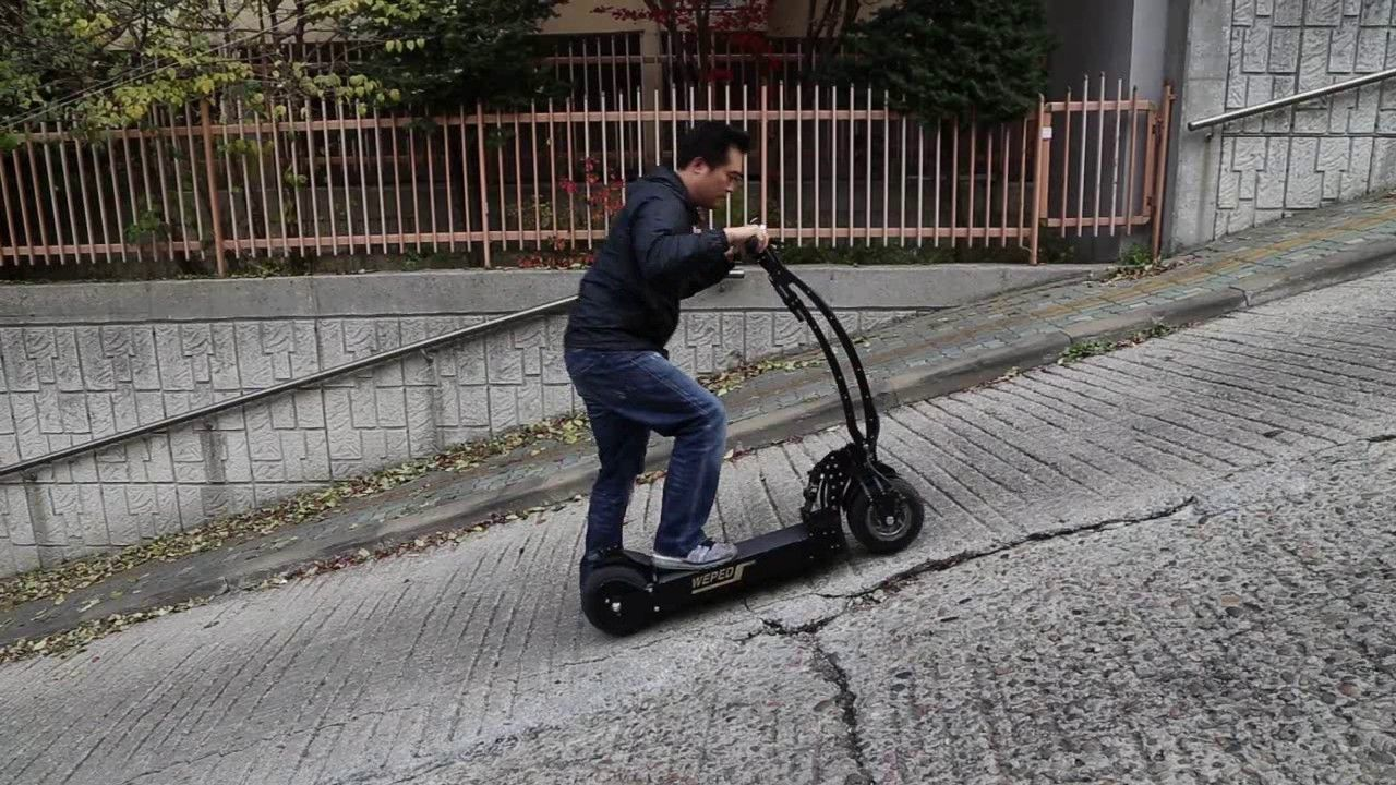 electric scooter / WEPED ver R uphill - YouTube | Bobber
