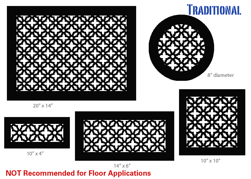 14 X 30 Steel Design Returns Decorative Vent Cover Vent Covers Traditional Decor