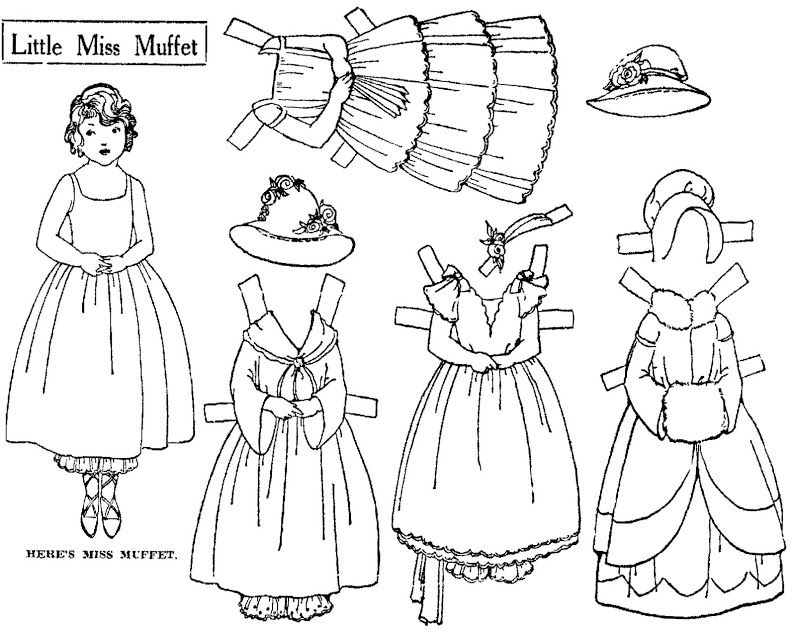 Pin On Paper Dolls Mother Goose