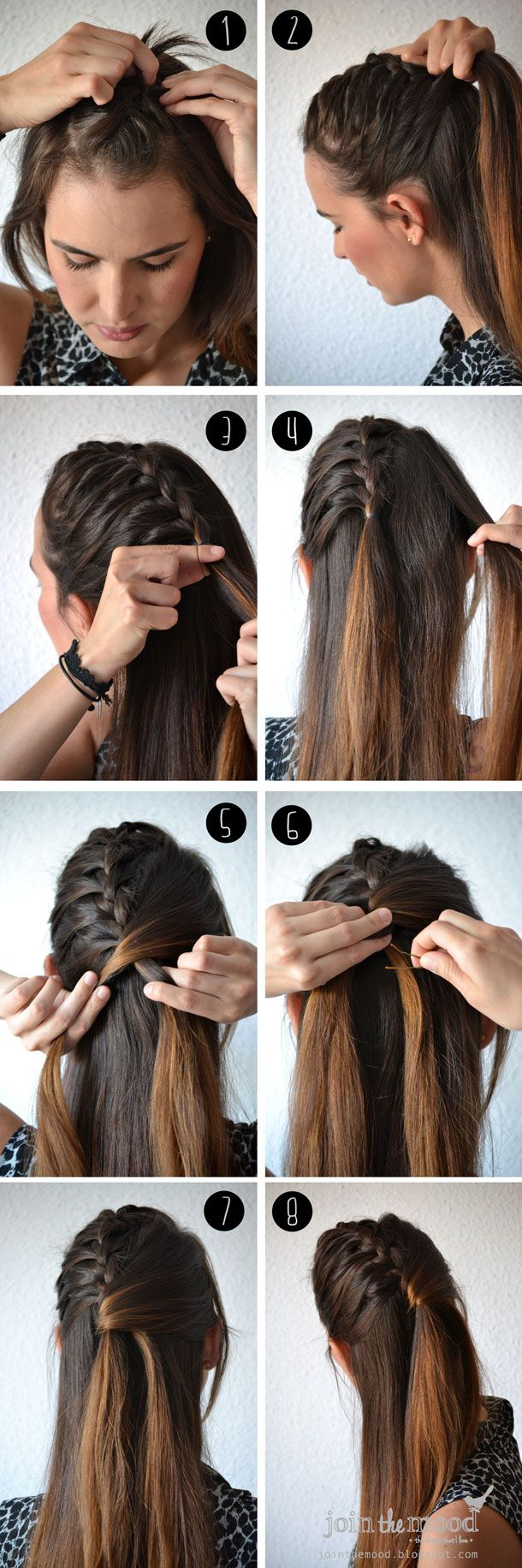 Join the mood semi collacted braid cool hair ideaus pinterest