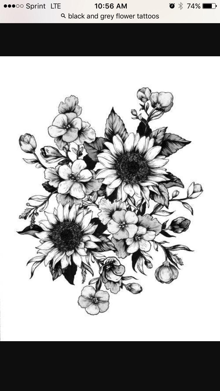 Flowers お絵かき pinterest flowers and tattoo