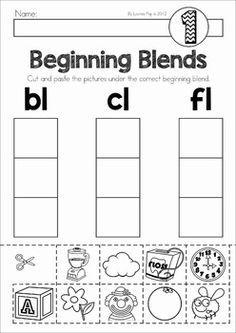 Blends And Digraphs Worksheets For Kindergarten