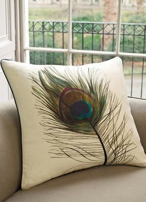 Peacock Feather Cushion Pillows House Styles Peacock Feather