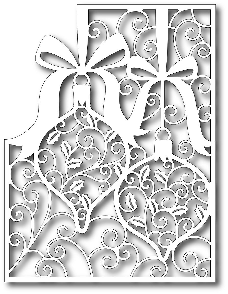 Vytynanka-Christmas decorations on the windows of paper 81