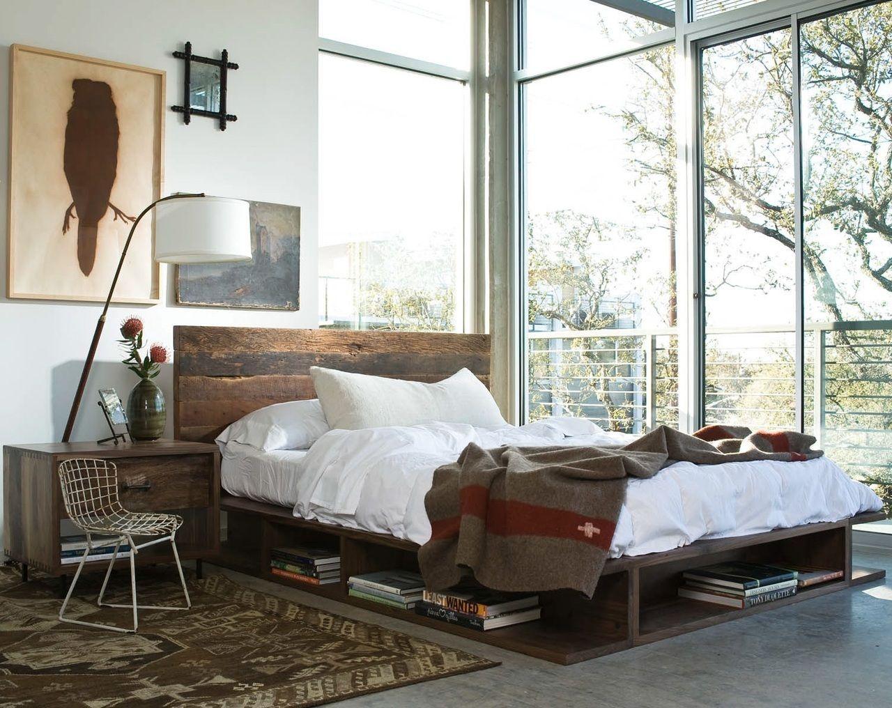 79e27e29b155 Bonnie King Platform Bed | Reclaimed Wood Rustic Bed Frame | Zin Home
