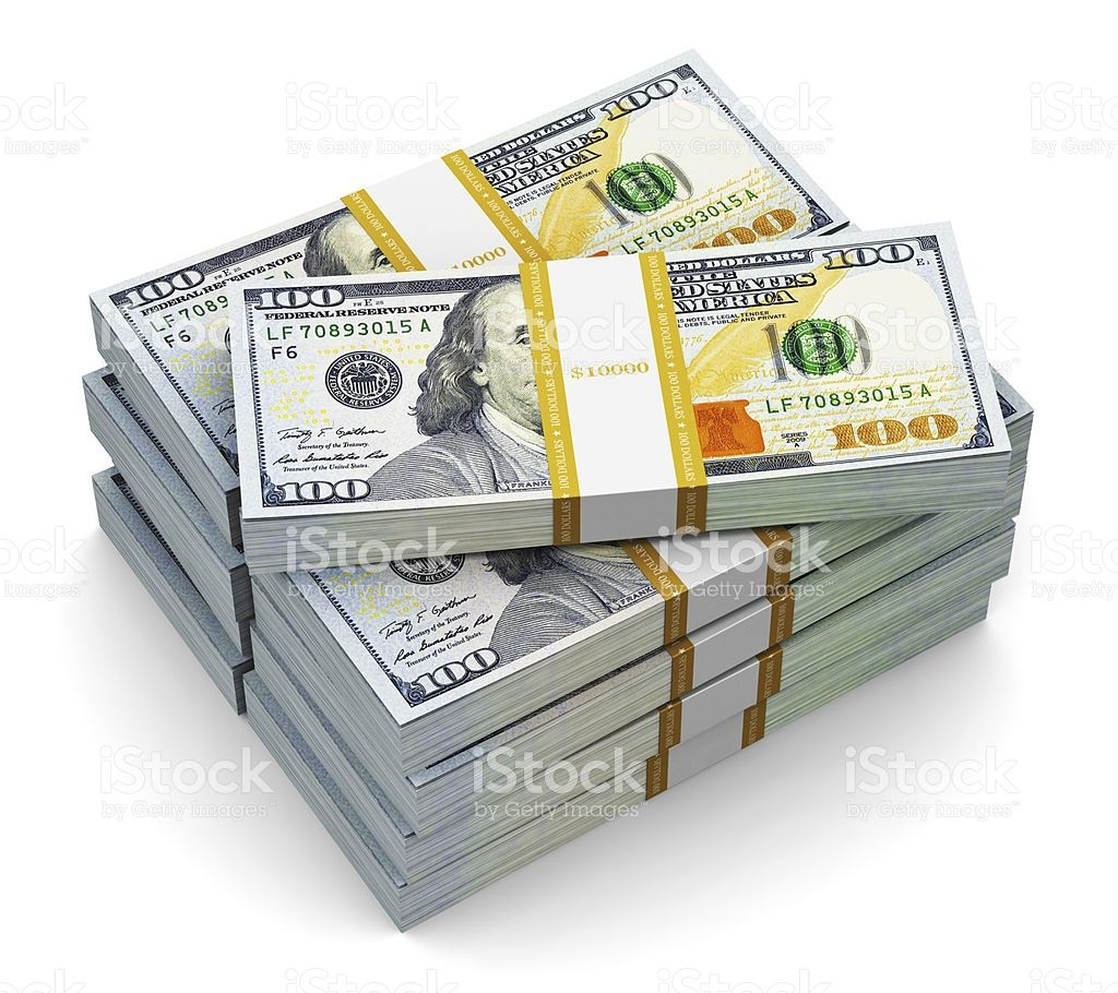 Two stacks of strapped new one hundred US dollar bills royalty-free stock photo | Trill vibezz ...