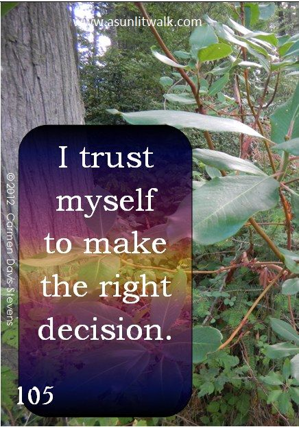 105 I trust myself to make the right decision