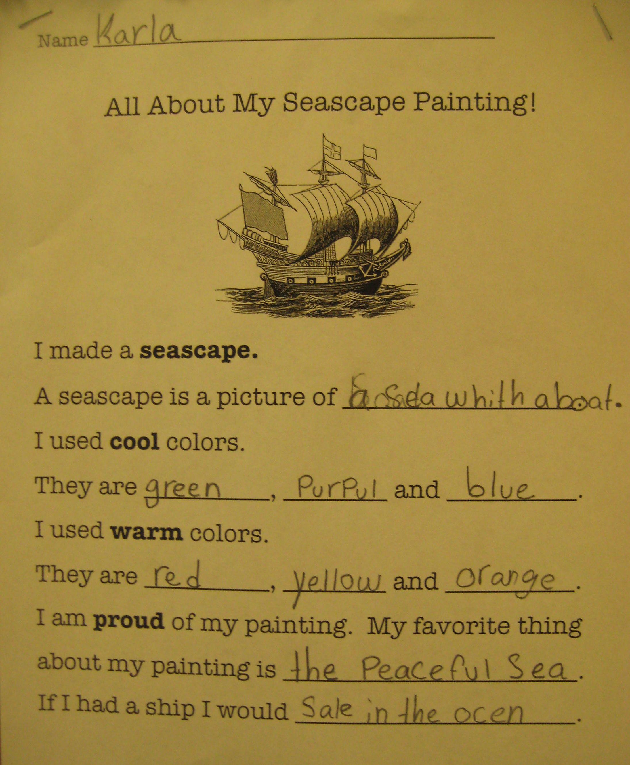 3rd Grade Seascape