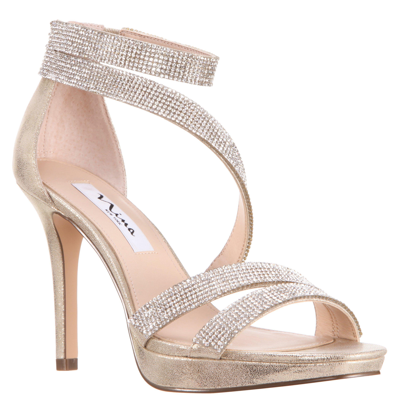 5ef65f33f6cd ALISSA-METALLIC FABRIC – Nina Shoes