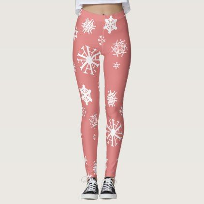 #Typographic Snowflakes Leggings - #Xmas #ChristmasEve Christmas Eve #Christmas #merry #xmas #family #kids #gifts #holidays #Santa