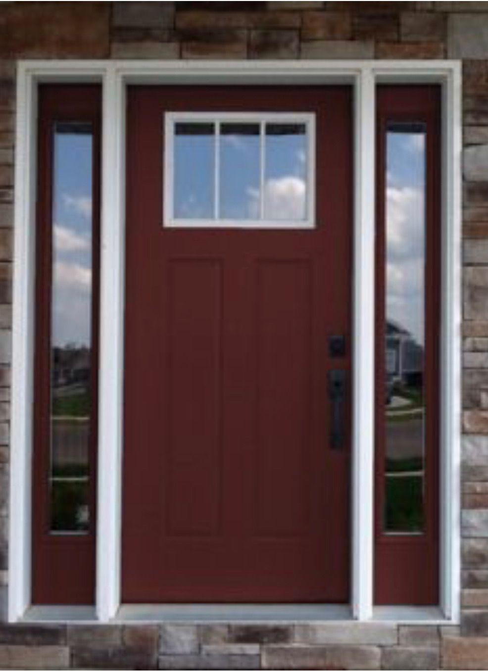 Larson Storm Door Cranberry Color Match Sherwin Williams Rookwood Dark Red 2801 Larson Storm Doors Front Door Paint Colors Painted Front Doors