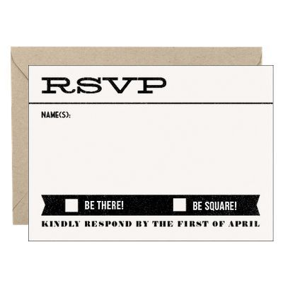 Billboard Wedding Response Card - Julianne & Collin | Paper Source  Be There or Be Square