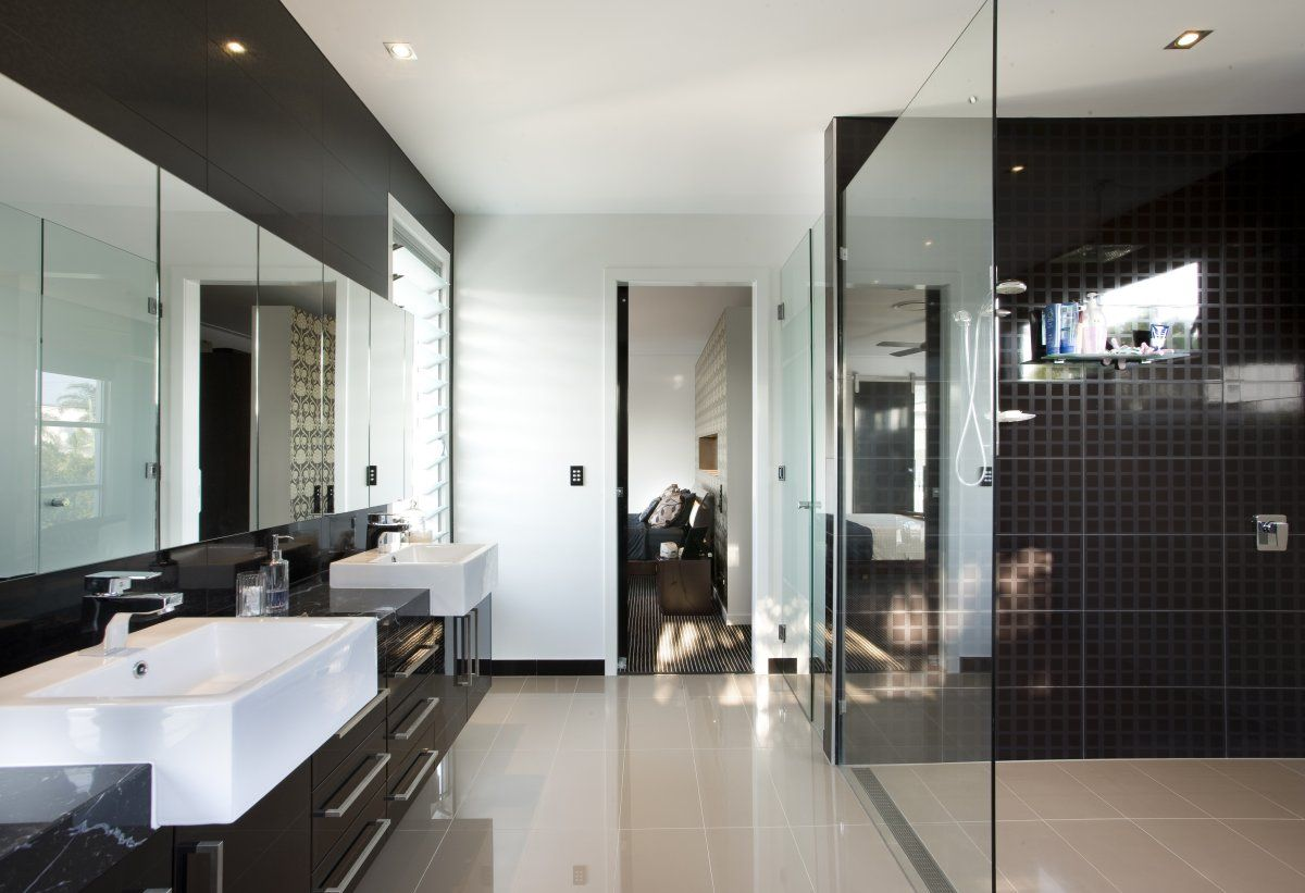 ideal bathroom designs this month feel the wilderness straight from your property and match - Black Luxury Modern Bathroom