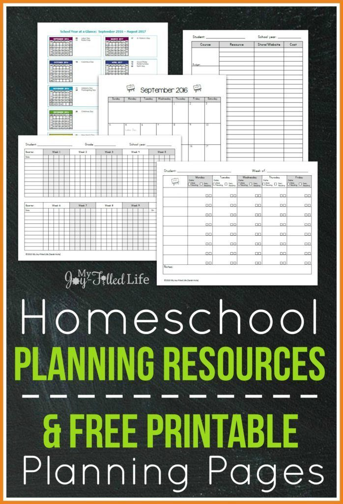 Top Homeschool Planning Resources & FREE Printable