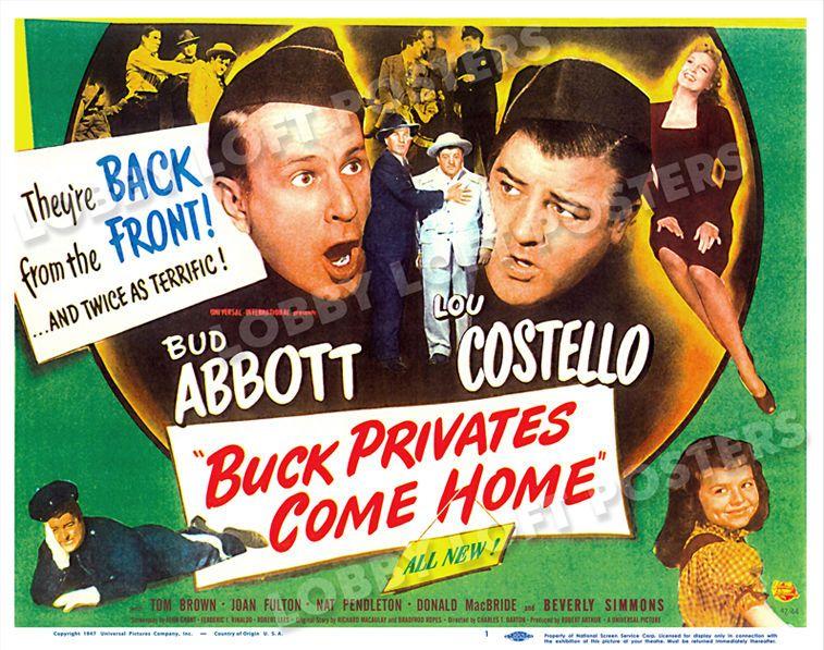 Buck Privates Abbott /& Costello vintage movie poster #39