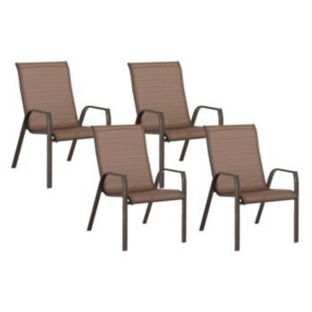 Sonoma Goods For Life Coronado Stackable Sling Patio Chair 4 Piece Set