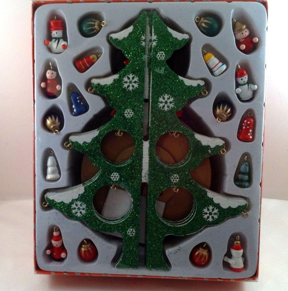Music box kingdom christmas tree o tannenbaum wooden miniature