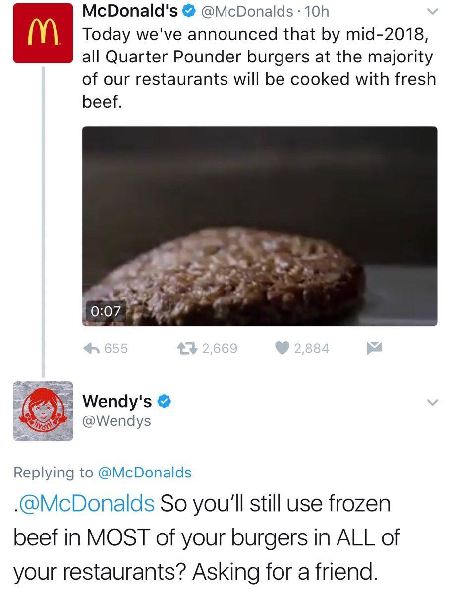 Fast Food Roast Tweets