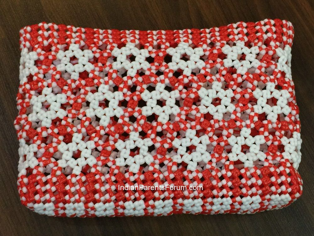 Star And Hexagon Pattern Basket – Traditional Indian Plastic Wire ...