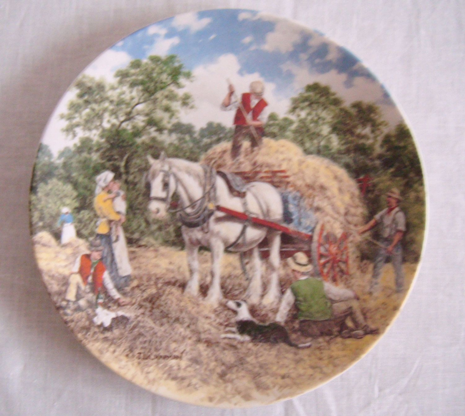 Vintage Wedgwood Life on the Farm Series Limited Edition Decorative Plate/ Made in England/ & Vintage Wedgwood Life on the Farm Series Limited Edition Decorative ...