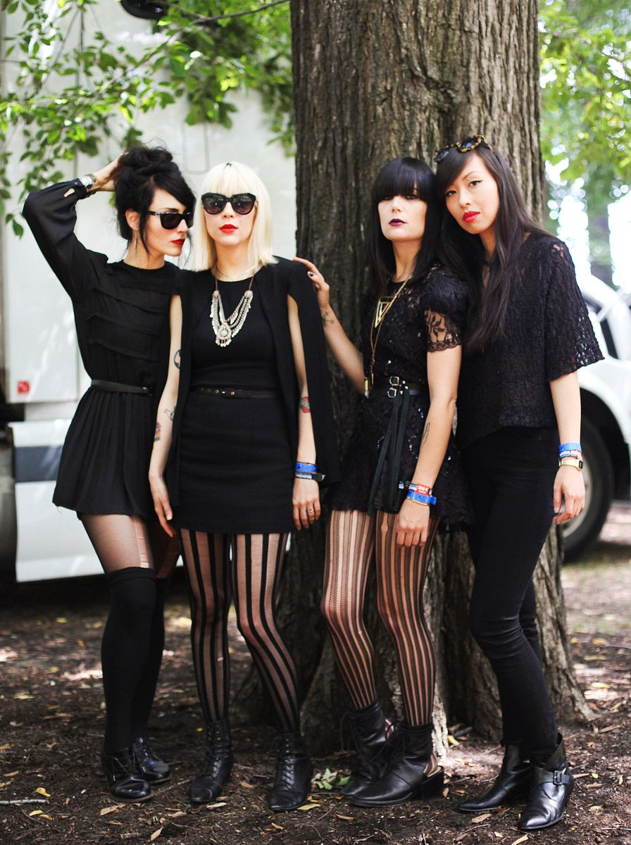 The Dum Dum girls at the annual Lollapalooza festival in the Windy City. Love the edge!
