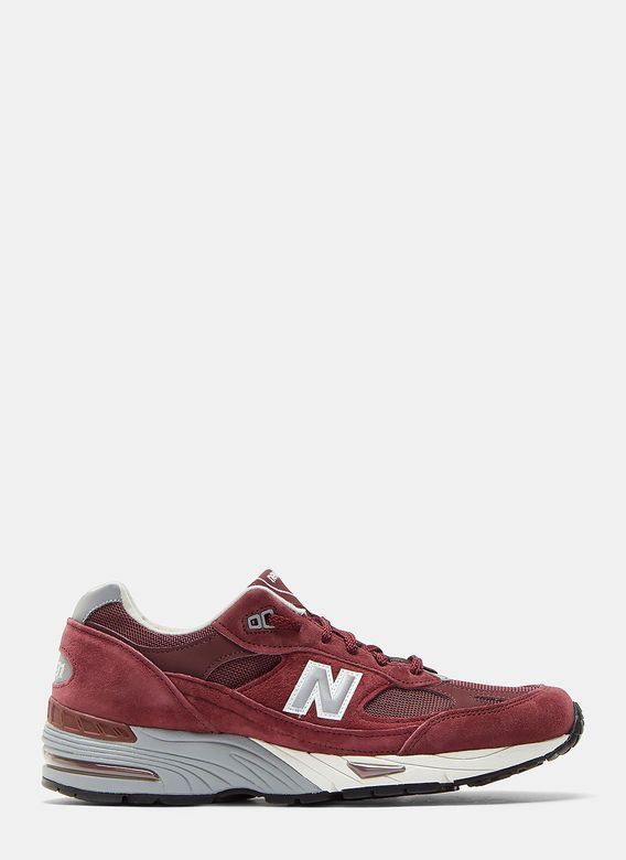 meet f53f8 35020 New Balance Men s 991 UK Suede Sneakers in Burgundy Zapatos De Diseñador,  New Balance Hombres