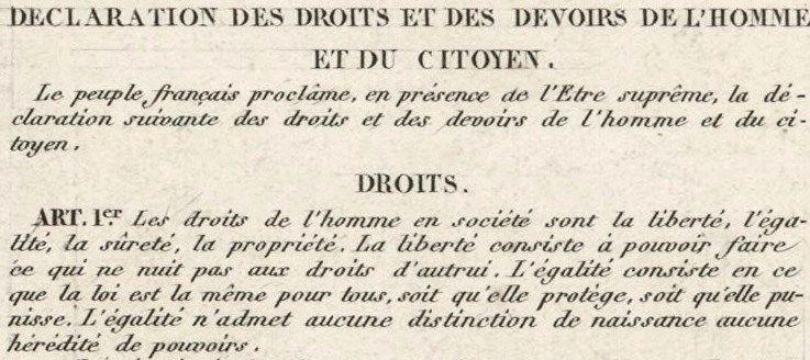 Resultats De Recherche D Images Pour Declaration Des Droits De L Homme Et Du Citoyen Article 1 Personalized Items
